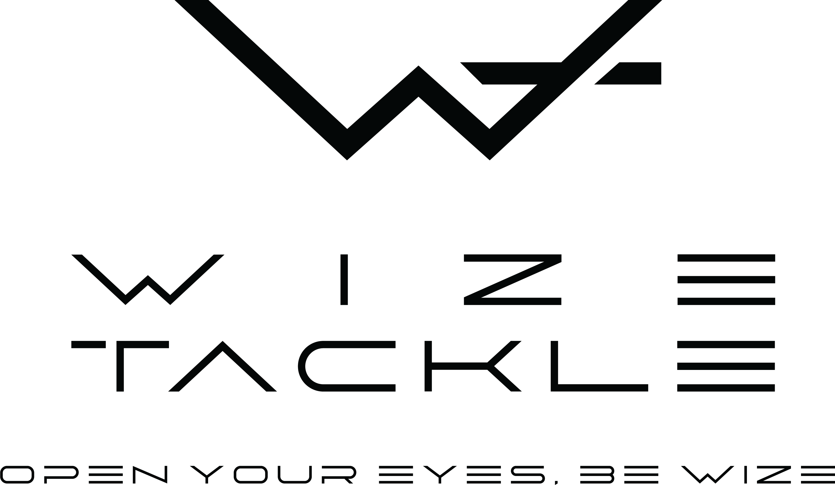 wizetackle logo black on white